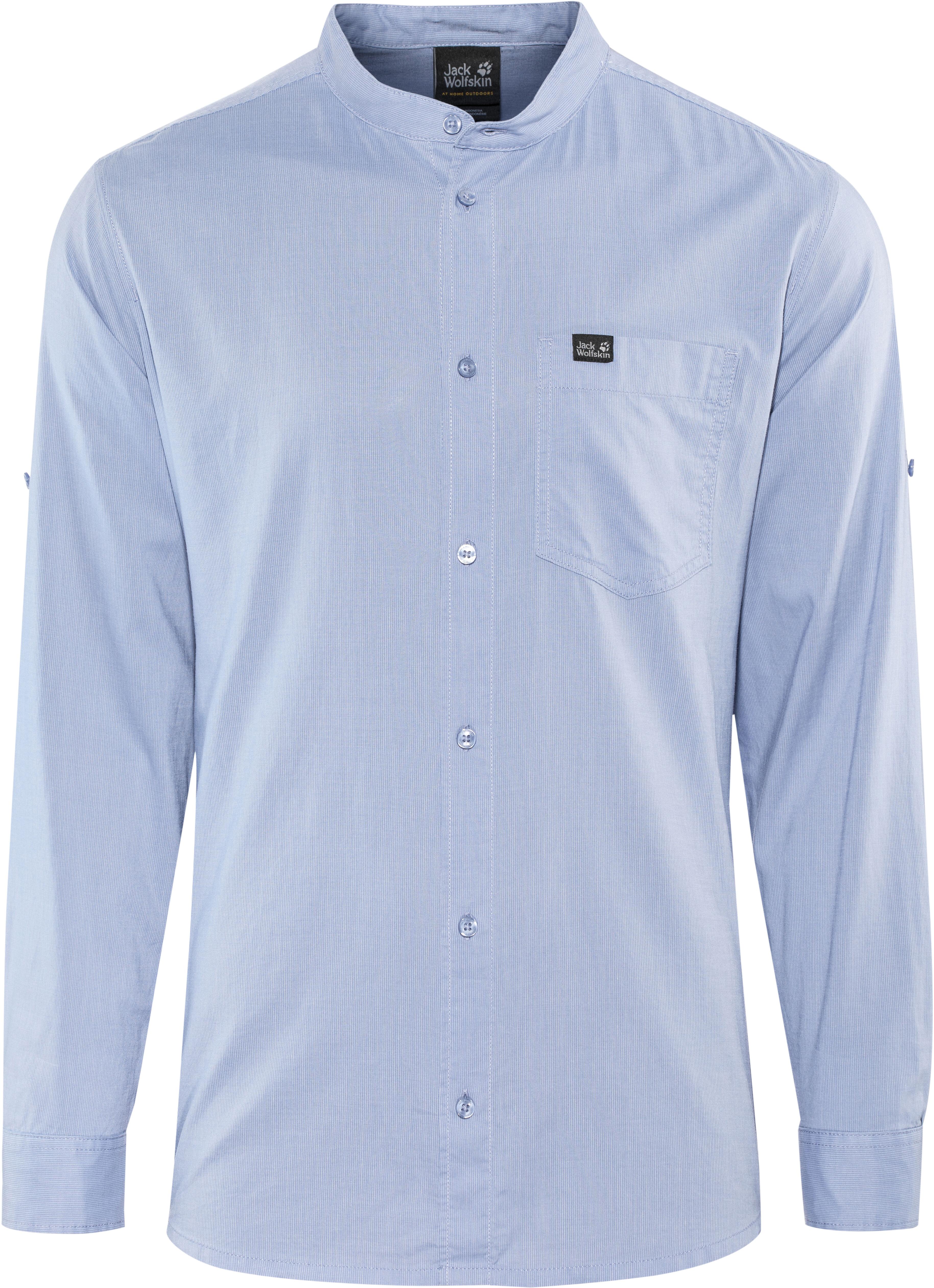 produkty wysokiej jakości niesamowite ceny super jakość Jack Wolfskin Indian Springs Shirt Men dusk blue stripes